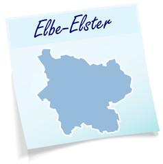 Elbe-Elster als Notizzettel