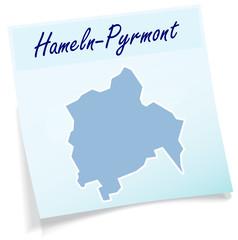 Hameln-Pyrmont als Notizzettel