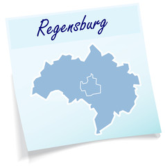 Regensburg als Notizzettel