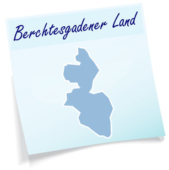 Berchtesgadener-Land als Notizzettel
