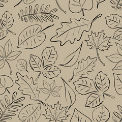 simple autumn leaf seamless pattern eps10