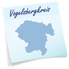 Vogelsbergkreis als Notizzettel