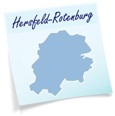 Hersfeld-Rotenburg als Notizzettel