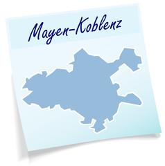 Mayen-Koblenz als Notizzettel