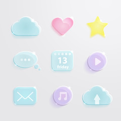 Social media icons. Vector set