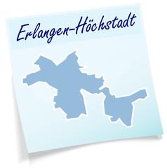 Erlangen-Hoechstadt als Notizzettel
