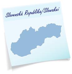 Slowakei als Notizzettel