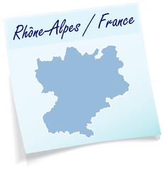 Rhrone-Alpes als Notizzettel