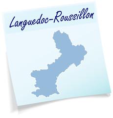 Languedoc-Roussillon als Notizzettel