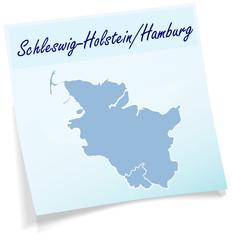 Schleswig-Holstein als Notizzettel