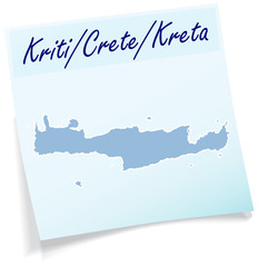 Kreta als Notizzettel