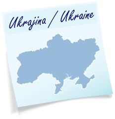 Ukraine als Notizzettel