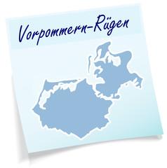 Vorpommern-Ruegen als Notizzettel