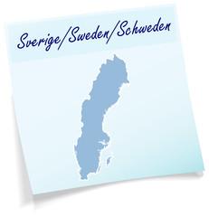Schweden als Notizzettel
