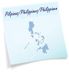 Philippinen als Notizzettel