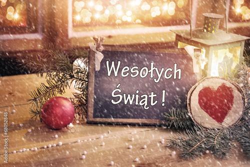 Magiczna karka z życzeniami - Wesołych Świąt - 68052848