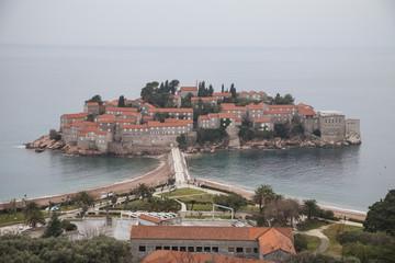 View on St. Stefan island in Montenegro