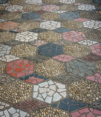 The art on stone pavement
