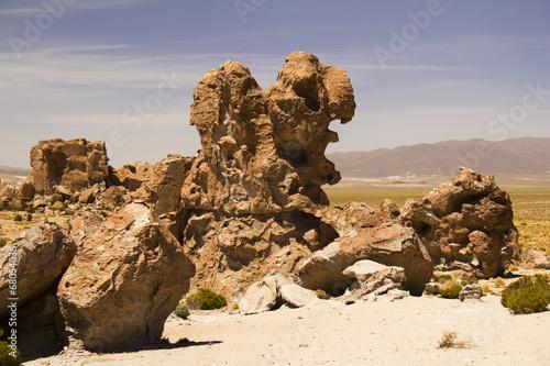 Stones at Uyuni desert