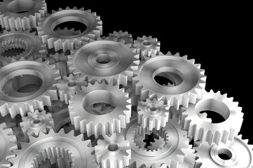 3d rendering Gears Background