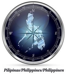 Philippinen mit Grenzen