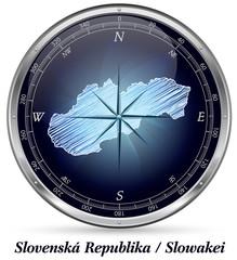Slowakei mit Grenzen