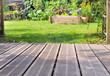 terrasse bois et jardin - 68055643