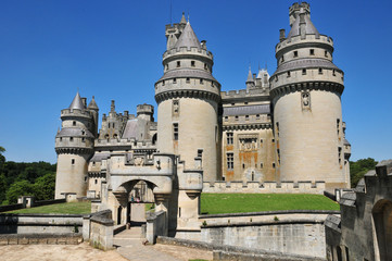 Picardie, the picturesque castle of Pierrefonds in Oise