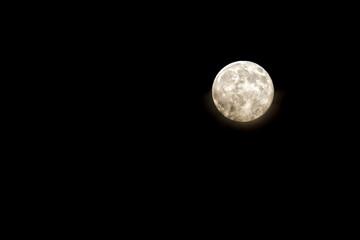 Full Moon on the black