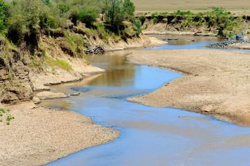 The Mara river of Kenya