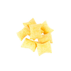 Chips in isolated on white background.