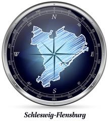 Schleswig-Flensburg mit Grenzen