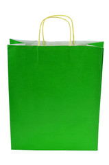 Le sac en papier vert