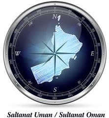 Oman mit Grenzen