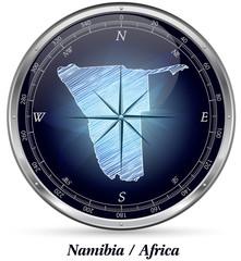 Namibia mit Grenzen