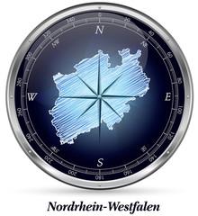 Nordrhein-Westfalen mit Grenzen