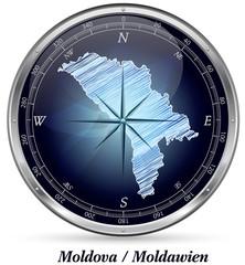 Moldawien mit Grenzen
