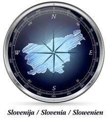 Slowenien mit Grenzen