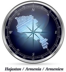 Armenien mit Grenzen