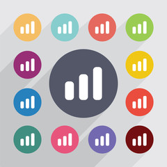 business diagram, chart symbol circle, flat icons set