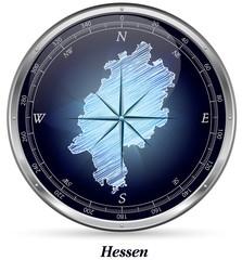 Hessen mit Grenzen