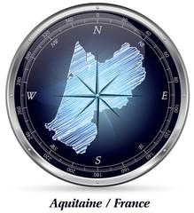 Aquitanien mit Grenzen