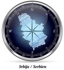 Serbien mit Grenzen