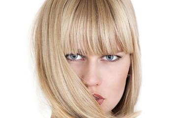 Woman hair fashion, a face closeup