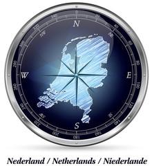 Niederlande mit Grenzen