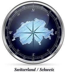 Schweiz mit Grenzen