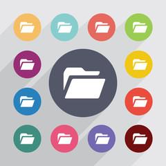folder, flat icons set