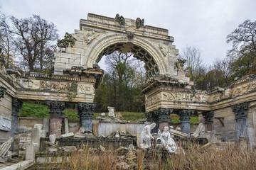 Ruin in Schonbrunn park, Vienna, Austria