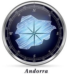 Andorra mit Grenzen