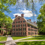 Fototapeta Yale university buildings in summer blue sky in New Haven, CT US